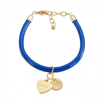 CANNOCK blue/goldplated Heart