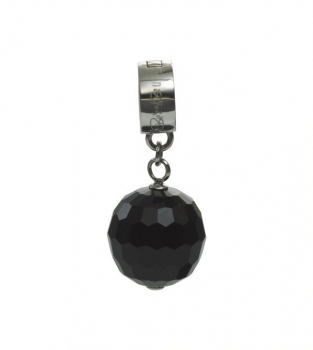 Charm Stone made of Glass, black