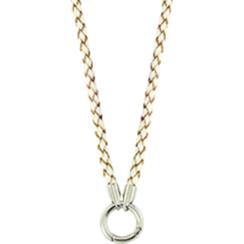 MiMoneda Necklace Leather white