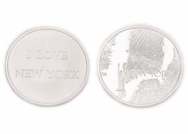MiMoneda New York City, silverplated, L