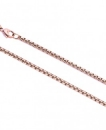 Necklace rosegold plated 80cm